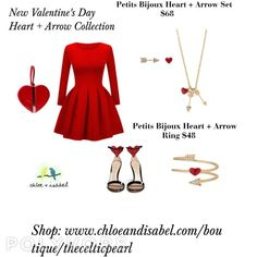 Our NEW Valentine's Day Collections are now available to Shop online at: www.chloeandisabel.com/boutique/thecelticpearl  And check out our other great Valentine's Day Gifts to show that special someone how much you care or buy them for you and celebrate loving yourself!   #Love #Lovers #Valentine #ValentinesDay #Gifts #Presents #Hearts #Arrows #Lock #Key #KeyToMyHeart #Stars #Moon #LoveYouToTheMoonAndBack #Jewelry #fashion #accessories #style #shopping #shop #trendy #trending #thecelticpearl