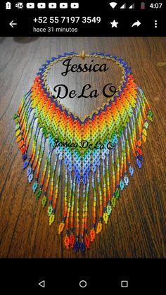 Collar Redondo, Beaded Necklaces, Beading, Crochet Earrings, Jewelry, Handmade Crafts, Necklaces, Chokers, Bangle Bracelets