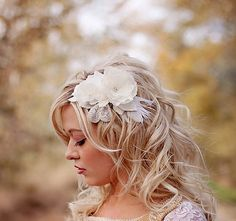 wedding headpiece with silk velvet leaves, pretty rhinestones and wrapped silk petals.
