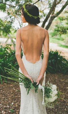Featured wedding dress designer Katie May. Fall in love with this open back totally sexy bridal gown ❤. Visit WeddingForward.com for more wedding dresses & wedding dress shopping advice. #weddingdresses #KatieMay #bridalgown