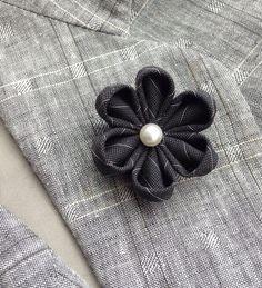 Mens Lapel Pin Flower Lapel Pin Pinstripe Lapel Flower Custom
