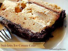 snickers icecream cake