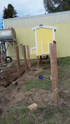 Adding the run to our chicken coop