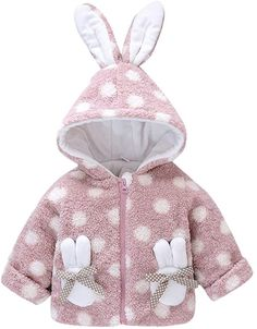 Kehen Toddler Unisex Baby Rabbit Long Ears Hoodies Zipper Bunny Romper Outfit Easter Clothes 2T, 2