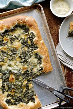 Focaccia with Lemony Greens & Parmesan