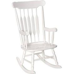 Gift Mark Adult Rocking Chair; White