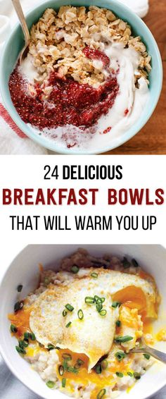 24 Delicious Breakfast Bowls That Will Warm You Up Cereal, so hot right now. Courtesy of Buzzfeed 1. Maple Brown Sugar Sweet Potato Oatmeal foodiecrush.com Recipe here. 2. Toasted Oatmeal with Strawberry Chia Jam and Coconut Whipped Cream cookieandkate.com Toasting the oatmeal before cooking it with liquid gives it a nutty flavor and makes …