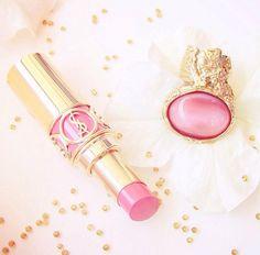Pink YSL Lipstick. my new addiction.