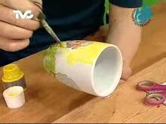Como pintar porcelana - Tea for one - YouTube