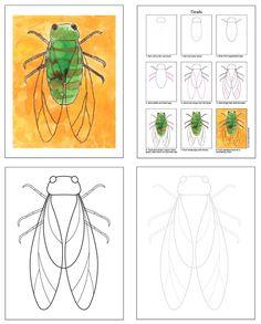 Bekijk een voorbeeld van mijn Insect eBook · Art Projects for Kids Art Drawings For Kids, Drawing For Kids, Art For Kids, Easy Art Projects, Projects For Kids, Science Projects, Bug Art, Nature Drawing, Insect Art