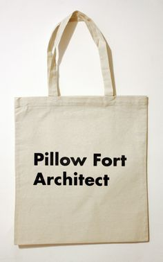 Pillow Fort Architect Tote Bag