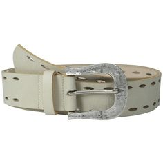 Leatherock 1618 (Nevada Cream) Women's Belts (5.760 RUB) ❤ liked on Polyvore featuring accessories, belts, distressed belt, leatherock belt, cream leather belt, leather strap belt and distressed leather belt