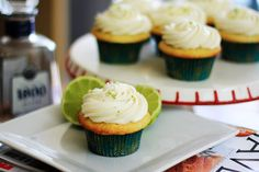 I need to make sure I get a few more fun times  this summer on the rooftop with these - Tequila & Lime Cupcakes