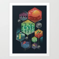 Geometrical Wonders Art Print by Dan Elijah G. Fajardo - $17.68