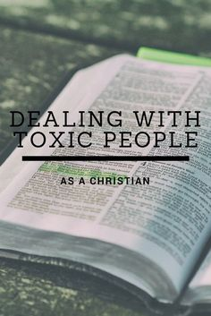 How to Deal With Toxic People As A Christian A few months ago at church, the pastor spoke to us about toxic relationships and the subject has been weighing on my heart heavily. Like most people, I … Love Verses From The Bible, Top Bible Verses, Bible Scriptures, Bible Quotes, Art Quotes, Prayer Quotes, Being A Christian, Christian Women, Christian Living