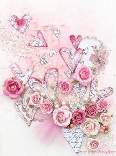 Valentines Canvas - Scraps of Elegance - Scrapbook.com