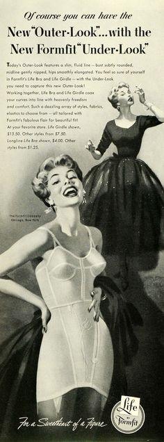 1953 Ad Formfit Life Bra Girdle Undergarments Smoking Women Underwear SEP6