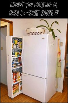 Take Advantage of The Unused Space in Your Kitchen by Building Your Own Roll-Out Pantry Shelf