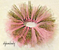 Beautiful Pink Camo Baby Girl Tutu by StyleMeLovely00 on Etsy, $23.00