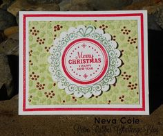 Finding Snippets of Time to Craft: December means Christmas Colors!