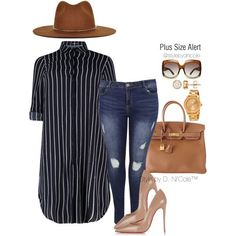 A fashion look from January 2016 featuring Boohoo jeans, Christian Louboutin pumps and Hermès handbags. Browse and shop related looks.