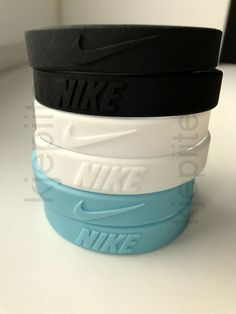 9952f619881b05 NIKE New baller wristband BLACK BLUE WHITE bracelet embossed silicone jordan  3D  Nike Silicone Bracelets. eBay