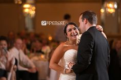 first dance at guys party center wedding reception