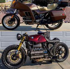 New Motorcycle Honda Cafe Racers Ideas Moto Cafe, Bmw Cafe Racer, Cafe Racer Build, Honda Motorcycles, Custom Motorcycles, Custom Bikes, K100 Scrambler, Cafe Racer Motorcycle, Retro Bikes