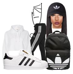 """Adidas Frenzy"" by amanda100412 ❤ liked on Polyvore featuring adidas Originals, River Island and adidas"