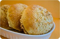 Soboru Pan {Sweet Bread with Peanut Butter Crumbles}