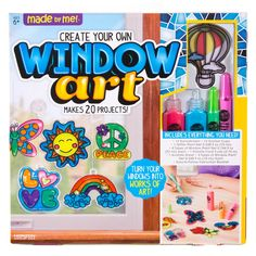 Made By Me Create Your Own Window Art by Horizon Group USA, Paint Your Own Suncatchers, Includes 12 Suncatchers & More, Assorted Colors in Craft Kits. Dollar Store Crafts, Dollar Stores, Crafts For Kids To Make, Gifts For Kids, Fireworks Craft, Plastic Pumpkins, Rainy Day Crafts, Booklet Design, Toilet Paper Roll Crafts