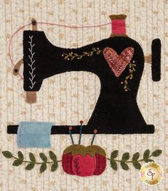 Shabby Fabrics is an online quilting shop for fabric, notions, patterns, & kits. Wool Applique Quilts, Wool Applique Patterns, Wool Quilts, Hand Applique, Felt Applique, Applique Designs, Embroidery Patterns, Hand Embroidery, Quilt Patterns