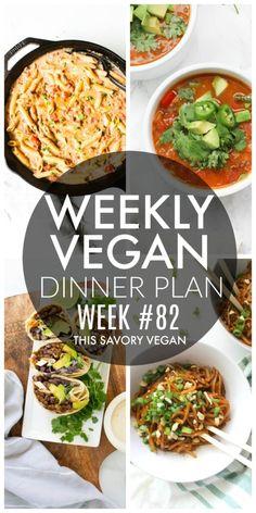 Weekly Vegan Dinner Plan #82 Vegan Enchiladas, Vegan Beef, Vegan Roast, Paleo, Chutney, Whole Food Recipes, Vegan Recipes, Vegan Foods, Delicious Recipes