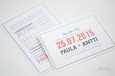 Hääkutsut » Makea Design // Graafinen suunnittelu / wedding invitation / Hääkutsu / kutsukortti / save the date