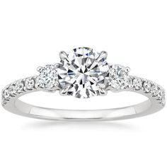 18K White Gold Radiance Diamond Ring (1/3 ct. tw.) from Brilliant Earth