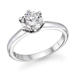 1/2 ctw. Round Diamond Solitaire Engagement Ring in 14k White Gold: http://www.amazon.com/Round-Diamond-Solitaire-Engagement-White/dp/B004Q9L3QG/?tag=headisstrandh-20