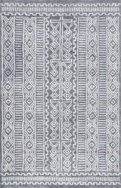 Yuma DB02 Hand Tufted Wool Fretted Diamonds Rug