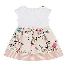 d9e9e1ca6 Baker by Ted Baker - Baby girls  pink bird print ottoman dress Ted Baker  Kids