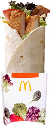 New Mcwrap Crispy Chicken, Grilled chicken.