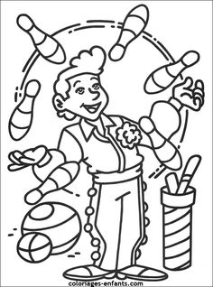 Home Decorating Style 2020 for Coloriage Cirque Acrobate, you can see Coloriage Cirque Acrobate and more pictures for Home Interior Designing 2020 at Coloriage Kids. Circus Clown, Circus Theme, Puzzle Photo, Crafts For Kids, Diy Crafts, Fun Fair, Colouring Pages, Mandala, Projects To Try