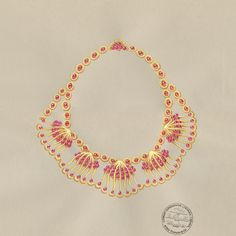 A sketch for Jean Schlumberger's Shell necklace. #TiffanyPinterest