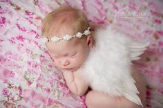 Princess Feather Wing Set  Newborn Feather  Wings  by gigistitches