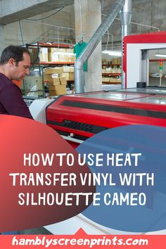 The most suited method to create Silhouette Cameos is by utilizing Heat Transfer Vinyl. Hambly Screen Prints gives clear step-by-step instructions on how to go about this process. Gather all the listed materials you need for the project. Follow our directions on how to correctly cut and properly apply the Heat Transfer Vinyl to get the desired results. You will be happy with the results if you follow our guide. Download here… #heattransfervinyl #htv #silouhettecameos Glitter Heat Transfer Vinyl, Cricut, Studio Software, Vinyl Shirts, Vinyl Cutter, Mirror Image, Vinyl Projects, Heat Press, Vinyl Designs