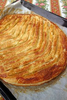 Tarte aux pommes et pâte d'amande