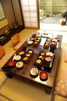 Japanese breakfast in Kyoto.  I traveled there in 1978 when I was a little girl.  Wonderful memories...