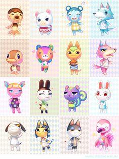Animal Crossing villagers - Bluebear is my favorite!