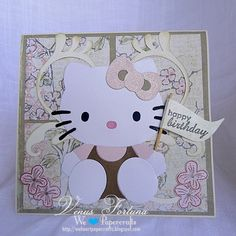 Hello+Kitty+Flower+Die | projects with my hello kitty sizzix die i really love this pink die i ...