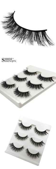 3 pairs Full Strip  Real Siberian Mink Lashes False Eyelashes Individual 3d Mink Fur Eyelashes Makeup Fake Lashes X08