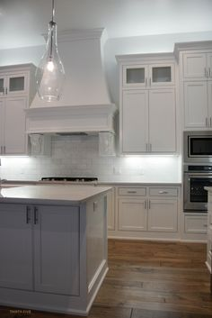 Simple White Kitchen by Two Thirty Five Designs