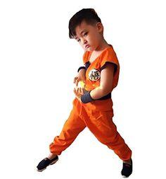 SSJ Dragonball Goku Style Costume [Satoru Mark Kids ] Japanese Amime (S) -- Additional info @ http://www.amazon.com/gp/product/B015F1Q97Q/?tag=cataudiobooks-20&lm=300716000407
